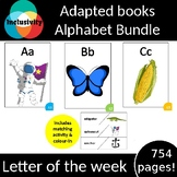 Alphabet letter of the week 26x ADAPTED BOOKS (level 1, level 2 and level 3)