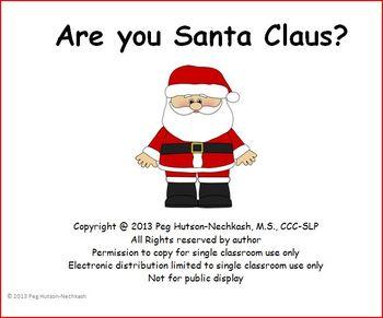 Interactive Book: Are you Santa?