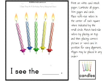 Adapted Book for Special Education BIRTHDAY PARTY