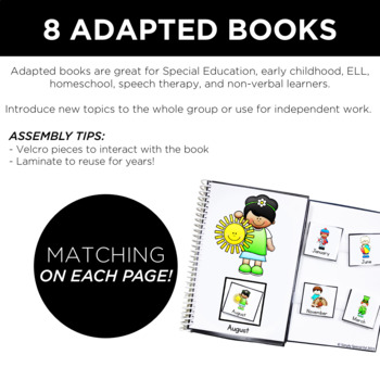 Adapted Book Bundle: Back to School Interactive Books