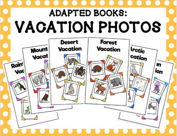 Adapted Book Bundle: Vacation Photos (Animals)