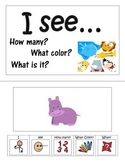 Adapted Book- Colors, numbers, animals