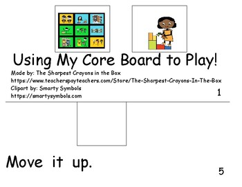 Adapted Book-Core Words and Structured Play!