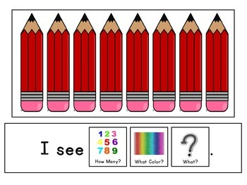 Adapted Book: Count and Color Pencils