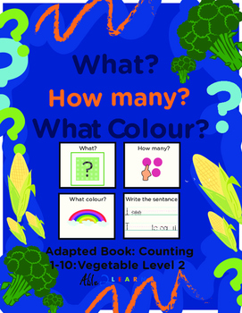 Adapted Book: Counting 1-10 & Guided Printing: Vegetable Theme