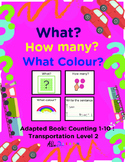 Adapted Book: Counting 1-10 & Guided Printing: Transportation Theme