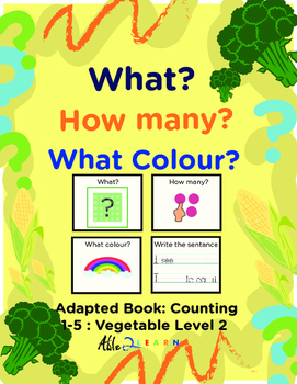 Adapted Book: Counting 1-5 Guided Printing: Vegetables