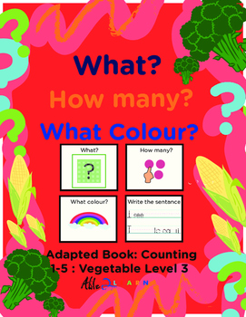 Adapted Book: Counting 1-5 & Writing: Vegetables Theme