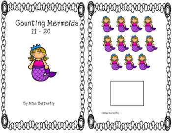 Adapted Book Counting Mermaids 11 to 20
