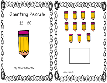 Adapted Book - Counting Pencils 11 to 20