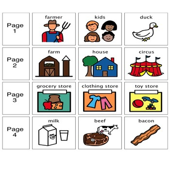 "Adapted Book ""Farm Animals"" with WH Questions (for special education)"