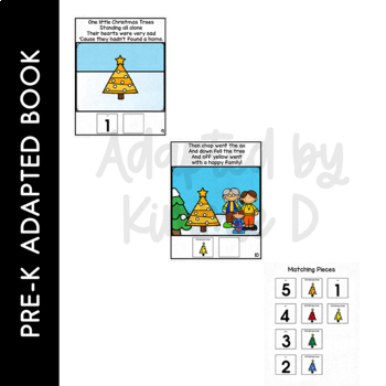 Five Little Christmas Trees: Adapted Book for Early Childhood Special Education