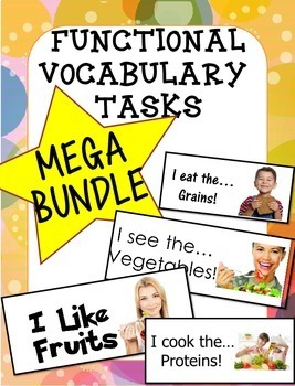 Adapted Book Functional Vocabulary- FOOD GROUPS BUNDLE