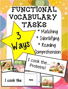 Adapted Book Functional Vocabulary- PROTEIN!
