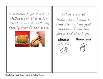 Adapted Book- Going to McDonald's!