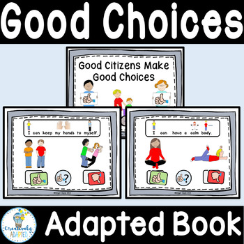 ADAPTED BOOK-Choices/Social Skills (Autism/Special Education)