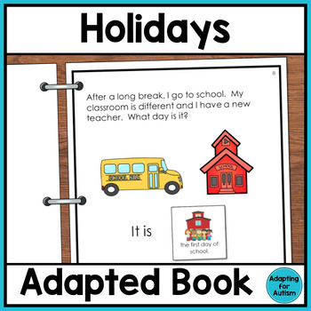 Holidays Adapted Book for Special Education and Autism