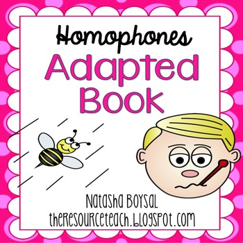 "Adapted Book ""Homophones"" (for Special Education)"