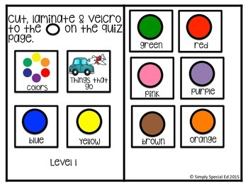 Adapted Book: I Know My Colors!
