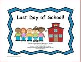 Interactive Book: Last Day of School