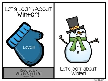 Adapted Book: Let's Learn About Winter