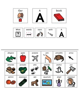 Adapted Book - Letter A