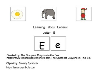 Adapted Book-Letter E