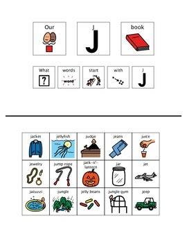 Adapted Book - Letter J