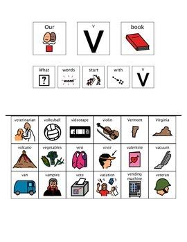 Adapted Book - Letter V
