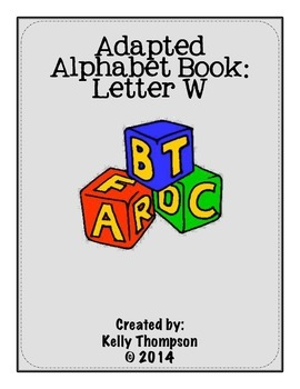 Adapted Book - Letter W