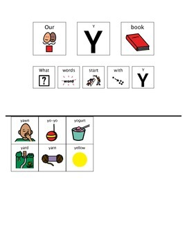 Adapted Book - Letter Y