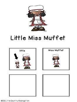 Adapted Book for Special Education: Little Miss Muffet
