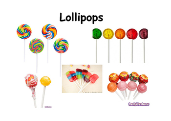 Adapted Book Lollipop Photos
