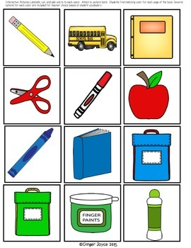 ADAPTED BOOKS-Back to School/Colors  (PreK-2/SPED/ELL)