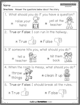 Adapted Book { My Classroom Rules}