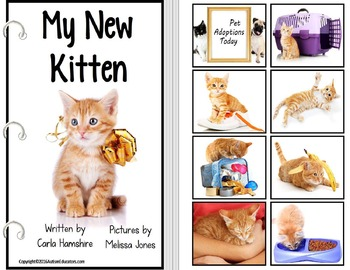 Adapted Book - Series WEEK LONG LESSON My New Kitten for Special Education