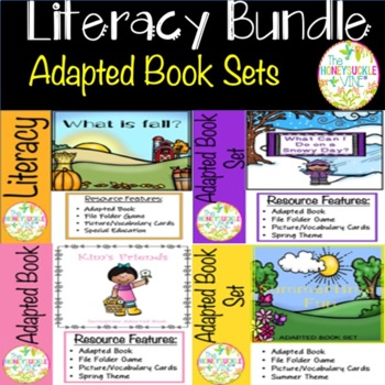 Adapted Book Sets Bundle-fall, winter, spring & summer