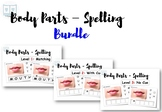 Adapted Book - Spelling of Body Parts (BUNDLE)