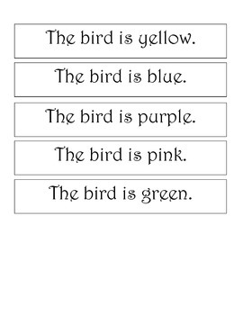 Adapted Book Birds for Spring