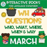 Adapted Book Spring March Answering WH Questions Speech Language Therapy