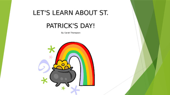 Adapted Book: St. Patrick's Day