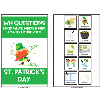 Adapted Book St Patrick's Day Leprechaun Answering WH Questions Speech Language