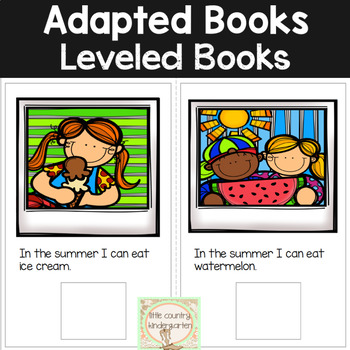 Adapted Books for Special Education: Summer