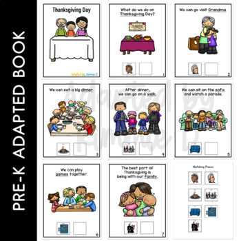 Thanksgiving Day: Adapted Book for Students with Autism & Special Needs