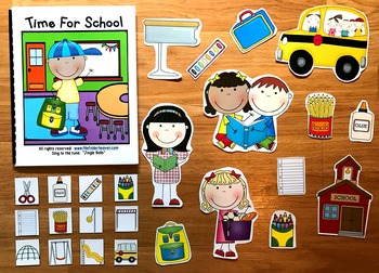 "Back to School Adapted Book--""Time For School!"""