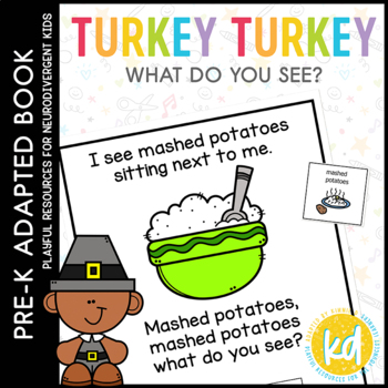 Turkey Turkey What Do You See?: Adapted Book for students