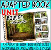 Adapted Book Unit: Forest Animals (Printable and Digital)