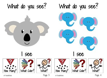 Adapted Book: What Do You See? ANIMALS!
