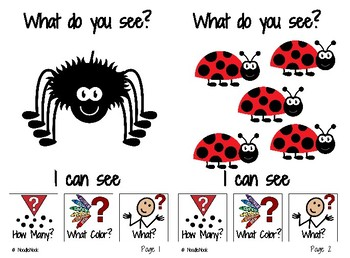 Adapted Book: What Do You See? I Can See BUGS!
