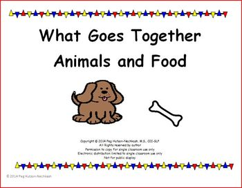 Interactive Book: What Goes Together? Animals and Food